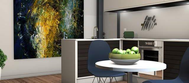 Cucina in rendering 3D